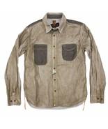 PRPS Men's Long Sleeve Button Down Shirt Size Large SAMPLE 100% Cotton D... - $79.99