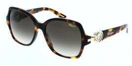 Chopard Donna Occhiali da Sole SCH206S 0748 Arancione Havana / Grigio Fu... - $193.04