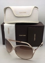 New TOM FORD Sunglasses RICKIE TF 179 28G 64-11 White & Gold Frame w/Brown Fade