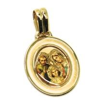 Anhänger Medaille Gelbgold 750 18K, Oval, Sacra Familie mit Rahmen image 2