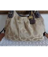 Coach Madison Maggie Monogram Satchel Handbag Shoulder Bag Purse Brown 1... - $65.99