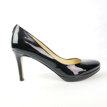 Ivanka Trump Womens Shoes 6.5M Black Patent Heels Janie Pumps - $21.43