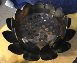 Reed & Barton Lotus Candlesticks & Centerpiece Silverplate image 4