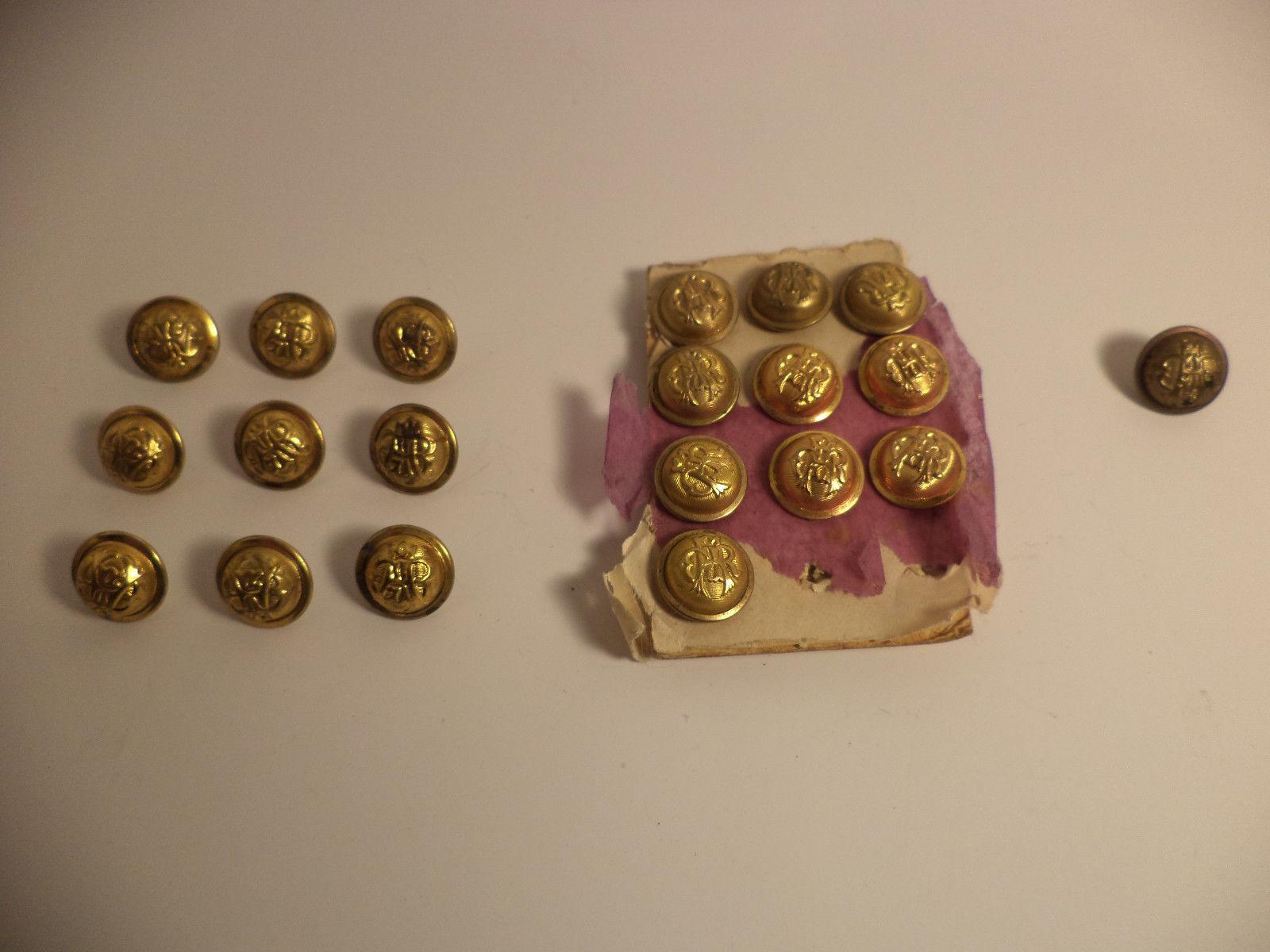 Original GAR Civil War Veterans' Button Group RARE NEW old stock Lot of 10 + 10