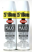 2 Cans Krylon 15 Oz Cover Maxx 89146 Gloss White Outdoor Performance Spr... - $20.99