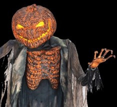 Life Size Animated SCORCHED SCARECROW with FOGGER Halloween Haunted Hous... - $237.57