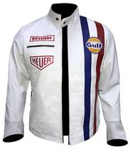 Steve Mens Gulf Le Biker Mans MC Synthetic Leather Queen Jacket image 2
