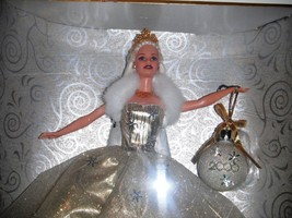 Celebration Barbie Special 2000 Edition Gold Dress Snowflakes 2000 Ornam... - $24.99