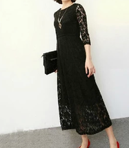 Black lace dress thumb200