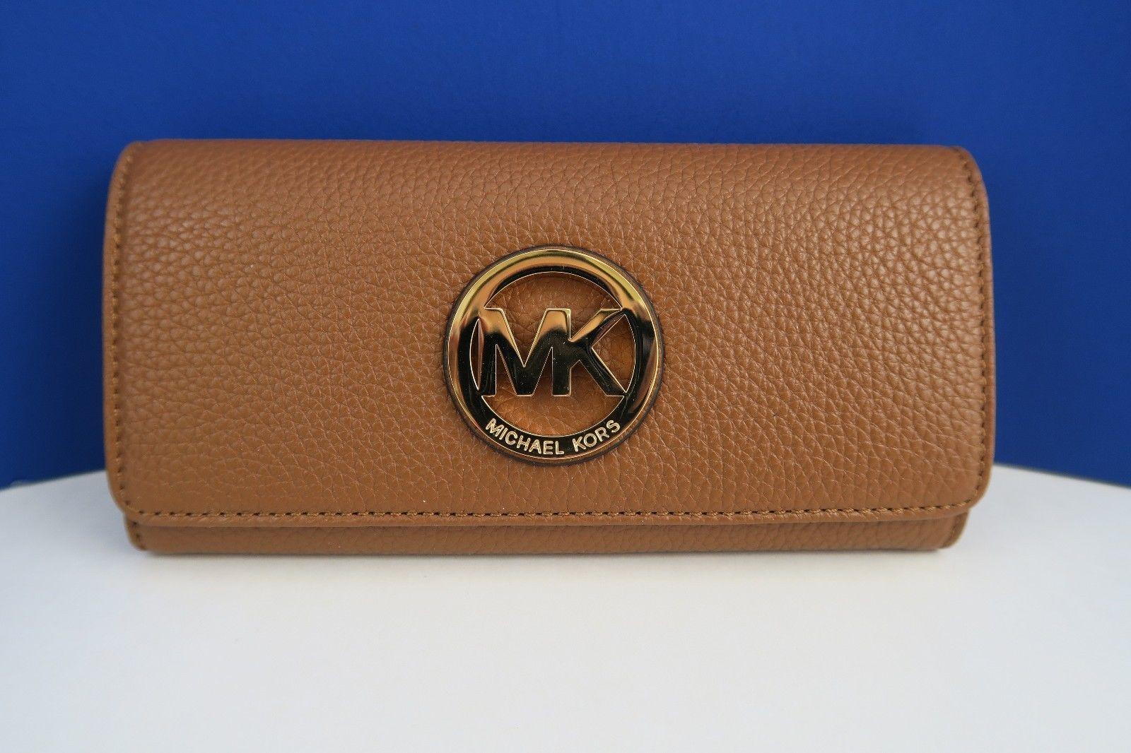 037056e8aff88e ... where to buy michael kors fulton flap continental wallet acorn nwt  4343a c3ca5