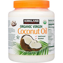 Kirkland Organic Virgin Coconut Oil Unrefined Cold Pressed Chemical Free... - $26.32