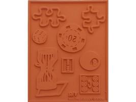 Vickie Enkoff Games Unmounted Rubber Stamp Set #V151 image 2