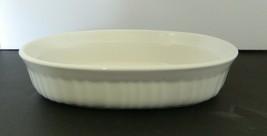 Corning Ware French White Stoneware Oval Individual Casserole Dish 15 Oz... - $16.71