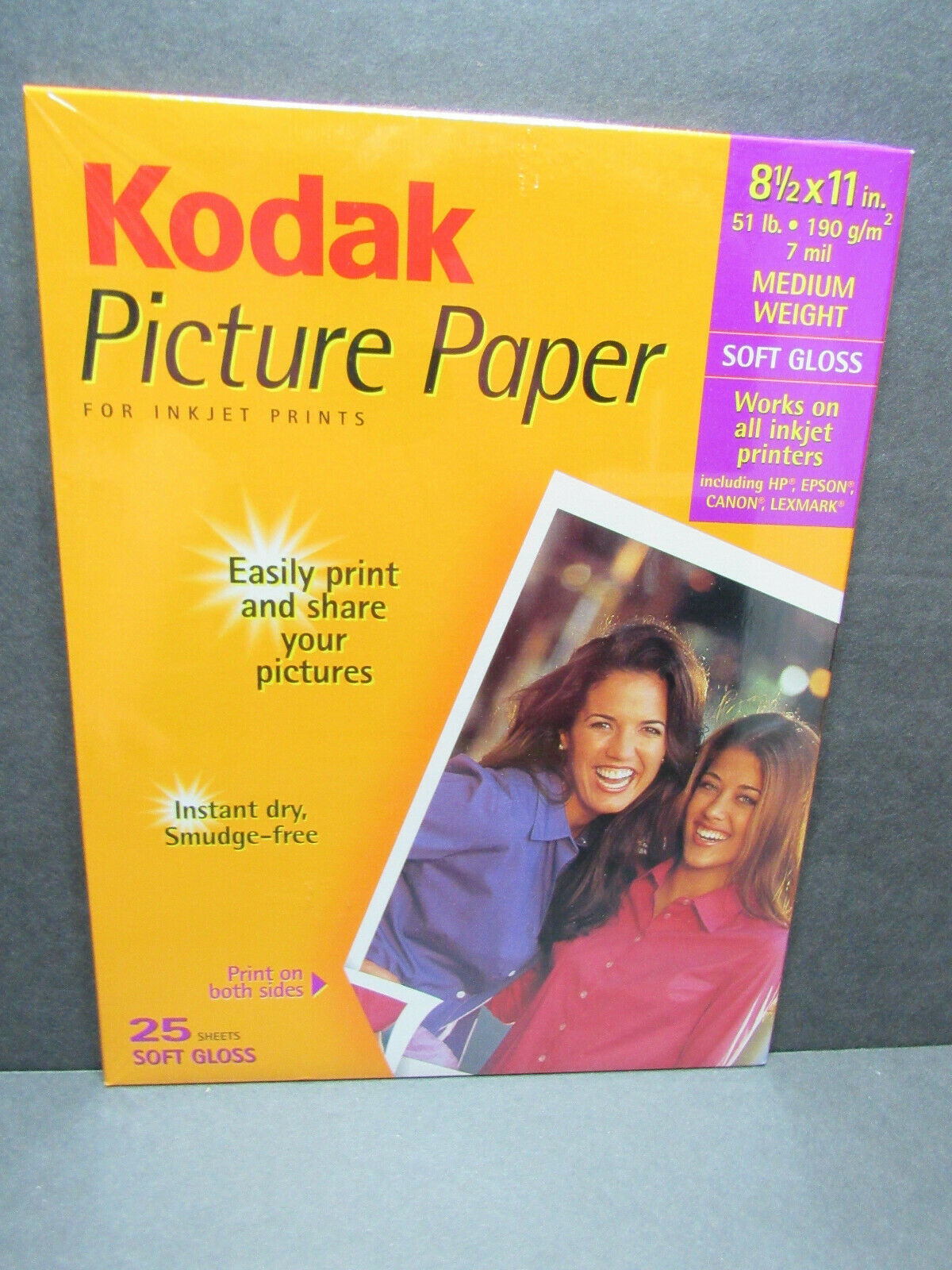 Lot of 2 Kodak picture paper for inkjet Med Weight 25 sheets (50 ct) soft gloss - $12.86