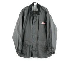 Vtg Hein Gericke Mens Large PVC Nylon Waterproof Motorcycle Parka Jacket... - $39.55