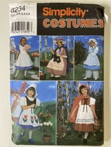 Simplicity Costumes for Kids 8234 Size AA,3,4,5,6 Little Bo Peep - $9.90