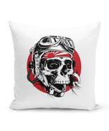 "Fashion Throw Pillow Skull Aviator Skull 16"" Stuffed Decorative Pillow - €24,01 EUR"