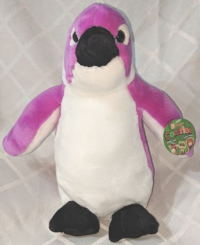 Fiesta A52923 Comfies Purple White Plush Penguin 9 Inches Ages 3 Plus
