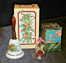 Christmas Bells with Box (Two) AA20-7435 Vintage