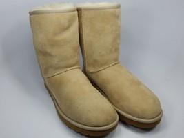 UGG Classic Short Sheepskin Beige Tan Boots Size 9 M (B) EU 40 5825