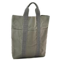 HERMES Ale Line Cabas Tote Bag Gray Auth 8816 - $210.00