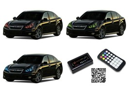 for Subaru Legacy 10-12 RGB Multi Color Bluetooth LED Halo kit for Headl... - $182.95
