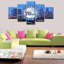 5pcs philadelphia 76ers printed canvas wall art picture home decor  thumb200