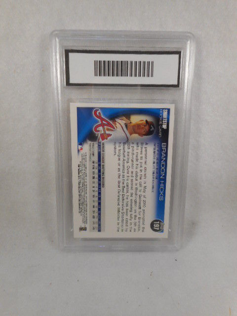 2010 Topps Chrome Brandon Hicks #197 Auto Rookie GMA Graded Gem 10