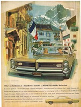 Vintage 1964 Magazine Ad Pontiac Grand Prix Outside is As Handsome as Inside - $5.93