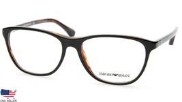 New Emporio Armani Ea 3075 5049 Black On Havana Eyeglasses Frame 54-16-140 B40mm - $44.06
