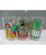 McDonald's Drinking Glasses Set of 6 Tumblers 1980s Grimace Ronald Hambu... - $28.84