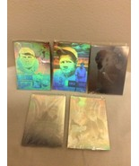 1992 Gold Entertainment Babe Ruth 5 Holograms Silver Edition Set Limited... - $14.95