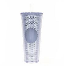 Starbucks Venti Tumbler Studded Iridescent Silver Diamond Cold Cup 24oz ... - $68.61