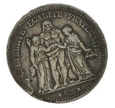 1873 France 5 Francs Silver Coin Liberte Egalite Fraternite Republique F... - $23.36