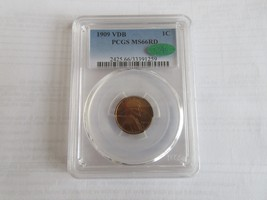 1909  VDB , Lincoln Cent , PCGS , MS 66 RD , CAC - $595.00