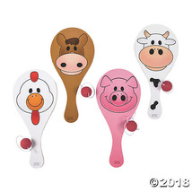Farm Animal Paddle Ball Games - $12.11