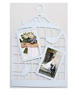 """JOICE GIFT Decorative White Wall Hanging Photo Frame Bird Cage Theme 11""""... - $15.83"""