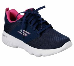 Skechers Navy Pink shoes Women's Sport Go Run Work out mesh Comfort Casu... - $39.99