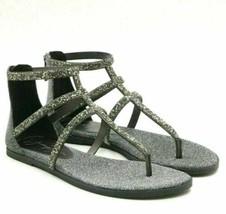 Jessica Simpson Cammie Women Flat Gladiator Sandals Size US 6M Pewter Glitter - $29.54