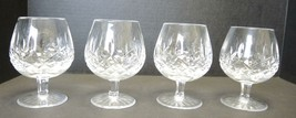 Four Waterford  Balloon Shaped Brandy Snifters - Lismore Pattern - $142.49