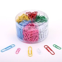DXG 450 Pieces Colored Paper Clips, 28mm, 50mm, Assorted Colors - £11.04 GBP