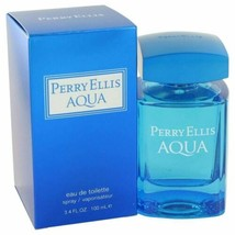 Perry Ellis Aqua by Perry Ellis Eau De Toilette Spray 3.4 oz for Men - $33.24