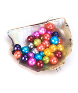 50pcs/Lot  AAA Round Akoya Oyster Pearls Wholesale Price Colorful Loose ... - $168.29