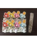 32pcs Pacifier Design Children's Birthday Favors,Photo Wooden Clips,Clot... - $7.20