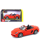 Porsche 718 Boxster Orange 1/24 Diecast Model Car by Bburago - $35.62