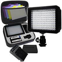 LimoStudio 160 LED Video Light Lamp Panel Dimmable for DSLR Camera DV Ca... - $58.80