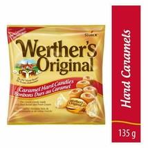 3 Werther's Original Caramels Hard Candy 135g/4.8oz Each Canada FRESH DELICIOUS - $24.01
