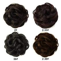 Abujia Messy Bun Hair Piece Hair Bun Extension Wavy Curly Messy Donut Hair Updo  image 7