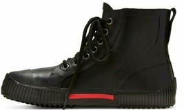 Art Class Boys' Black  High Top Waterproof Niam Rubber Rain Sneaker Boots NWT image 2