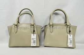 NWT Brahmin Mini Priscilla Smooth Leather Satchel/Shoulder Bag in Sand Topsail image 12